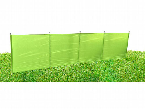Luxury Green 4 Metre x 0.8 Metre Windbreak With Aluminium Caps & Spikes